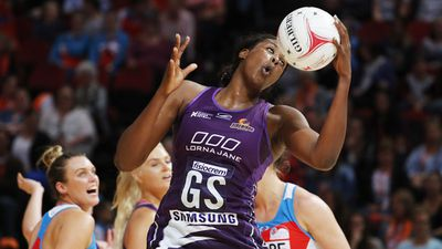 Firebirds' big netball win over Swifts
