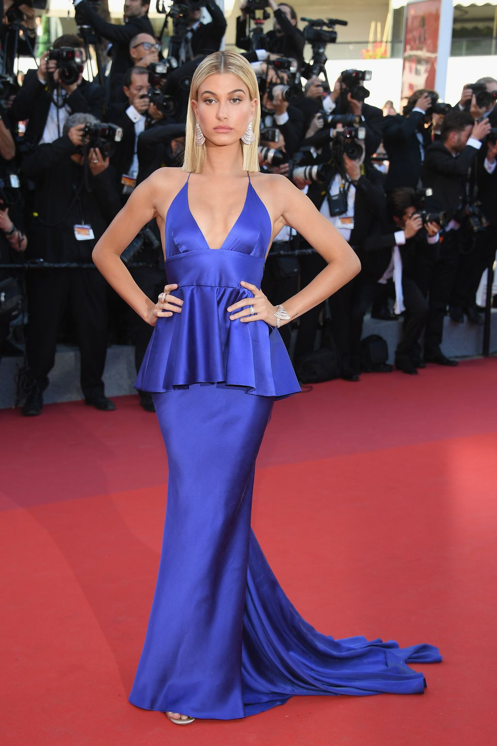 Hailey Baldwin in 2017 Cannes Film Festival 2017 red carpet