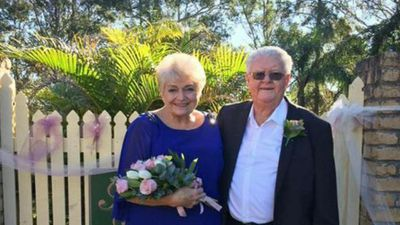 Elderly couple marry 54 years since first meeting as neighbours