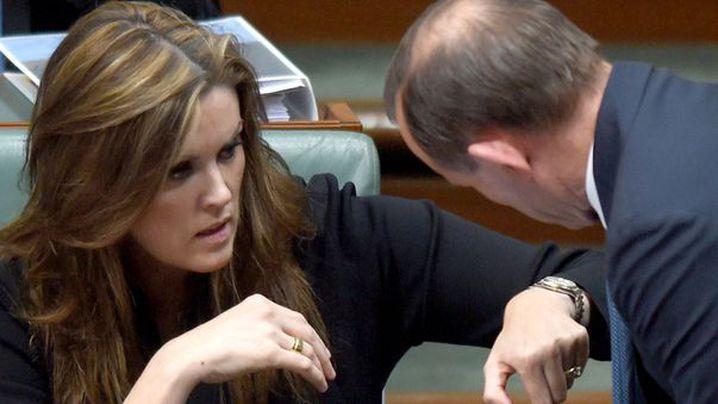 Peta Credlin and Tony Abbott. (AAP)