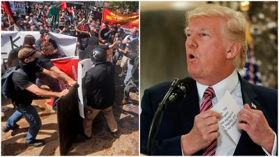 'Not all of those people are neo-Nazis': Trump blames both sides