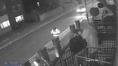 Hero wife protects husband from gun-toting robbers in UK