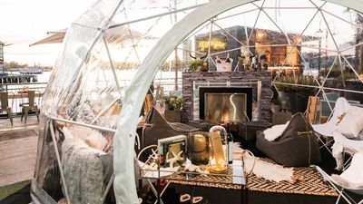 Cluster of igloo bars pop up on Sydney Harbour