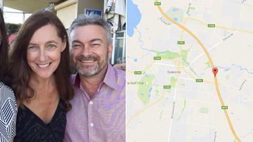 Missing Melbourne mother Karen Ristevski with husband Borce; Calder Highway, near Gisborne. (Supplied/Google Maps)