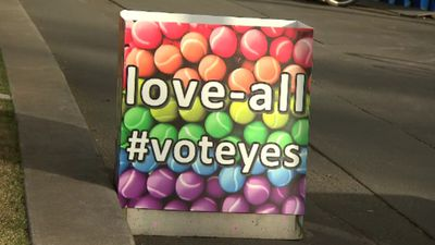 'Yes' campaigners makeover Margaret Court Arena security bollards