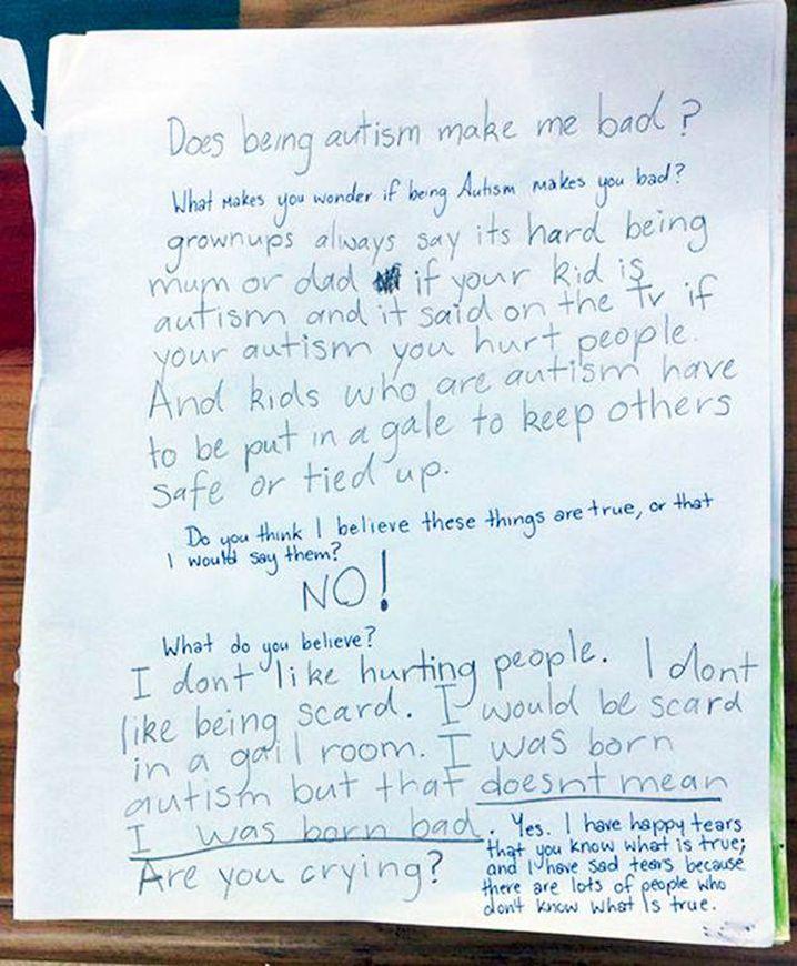 Cadence's letter. (Facebook/I am Cadence)