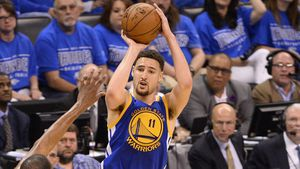 Thompson scores NBA three-point record