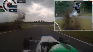 F3 driver walks away from horror crash