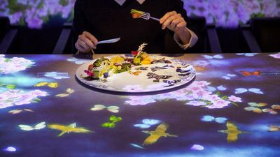 The interactive Tokyo restaurant where your dish causes flowers to bloom