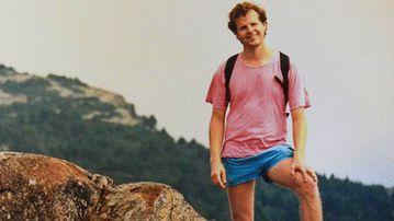 Scott Johnson Climbing Mt. Monadnock, New Hampshire USA – August 1988