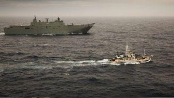 The boat was intercept off Tasmania. (Supplied)