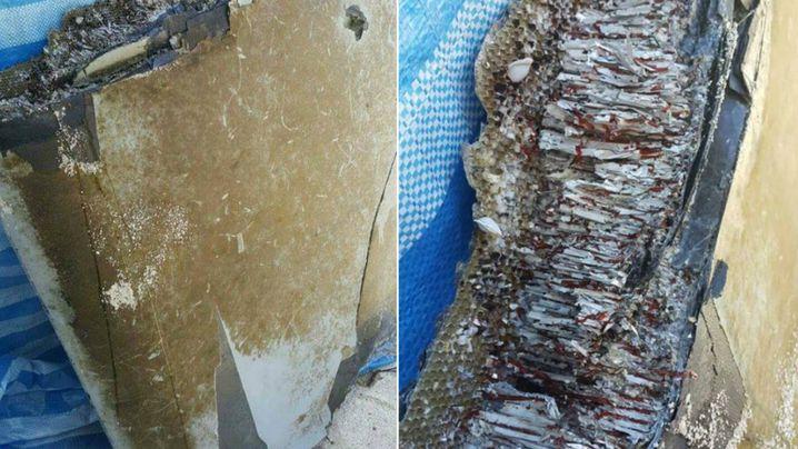 The debris found by Mohamed Wafir. (Facebook)