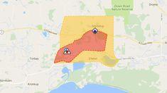 The bushfire warning area. (DFES)