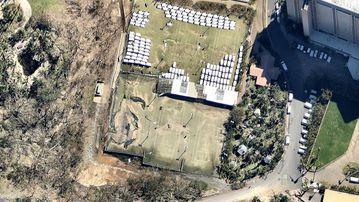 <p>AFTER: Tennis courts on Hamilton Island.</p> <p>(Nearmap.com.au)</p>