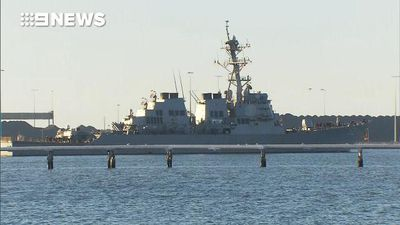 USS Ronald Reagan docks at Port of Brisbane