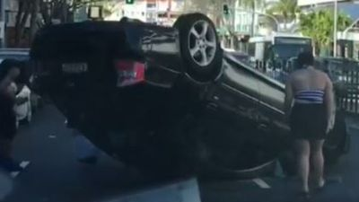 Driver rolls car while travelling to his own birthday party