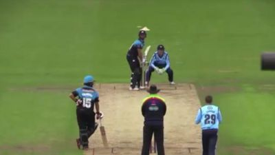 Worcestershire's Ross Whiteley whacks six sixes in an over against Yorkshire
