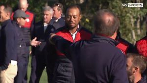 Woods gets booted from team photo at Ryder Cup