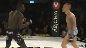 MMA fighter gets knocked out for taunt