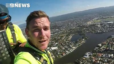Painters film themselves atop 322m Gold Coast skyscraper