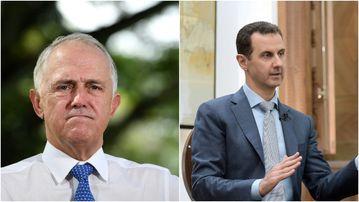 Prime Minister Malcolm Turnbull has cast doubt over Syrian leader, Bashar al-Assad. (AAP)