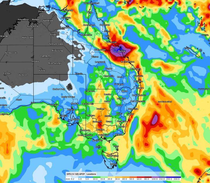 Rain is on the way for Australia's eastern states. (Weatherzone)