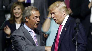 UKIP former leader Nigel Farage with Donald Trump. (AP)