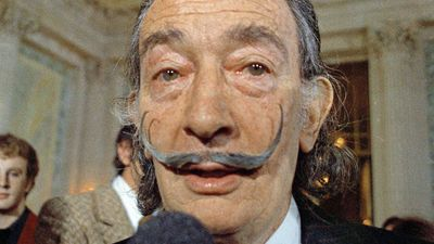 Salvador Dali's trademark moustache intact at '10 past 10'