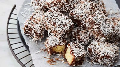 Anna Polyviou's hot chocolate soaked lamingtons