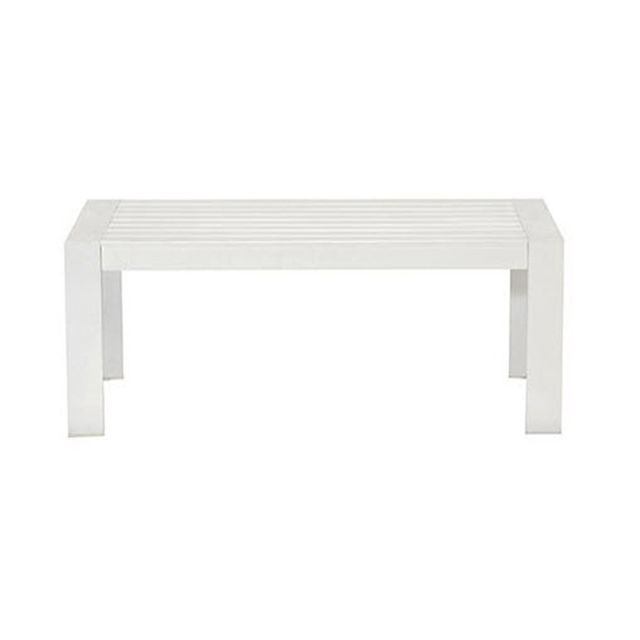 "Torquay white coffee table $319, <a href=""https://www.freedom.com.au/outdoor/outdoor-lounge/outdoor-sofas-and-armchairs/70"" target=""_blank"">Freedom</a>."