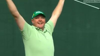 Australian golfer Jarrod Lyle speaks after having been diagnosed with cancer for a third time