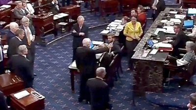 McCain's moment: a 'no' on health care