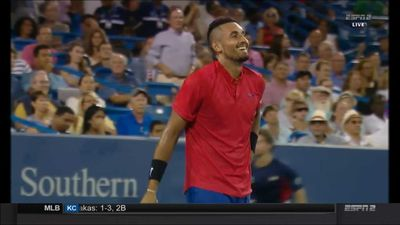 Rewards aplenty for Kyrgios in Cincinnati