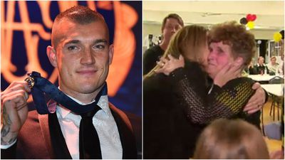 The moment Dustin Martin's family learned of his Brownlow win