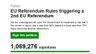 Petition for second EU vote passes one million signatures