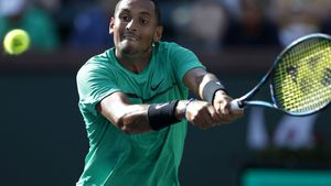 Kygios on fire in Indian Wells