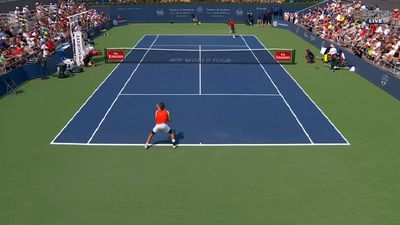 Nick Kyrgios wins third round of Cincinnati Masters after serving with women's balls