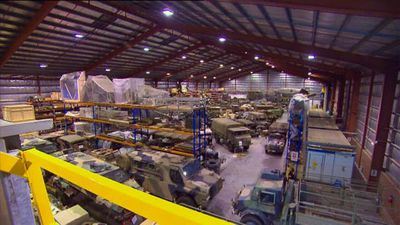 The unassuming warehouse home to Australia's wartime treasures