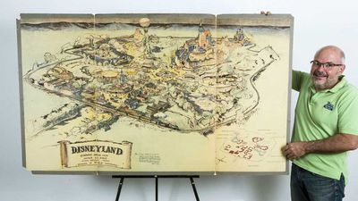 Walt Disney's original Disneyland concept map sells at auction for $1 million