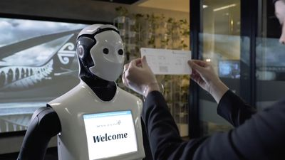 Air New Zealand introduces humanoid robot to help passengers check-in