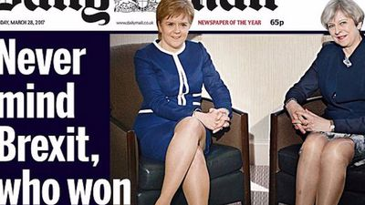 The 'Legs-it' shot of the British Prime Minister proves we still need feminism