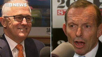Malcolm Turnbull laughs off public spat with former PM Tony Abbott