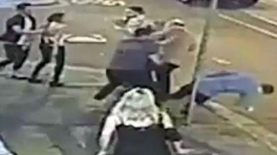 Frightening one-punch strike caught on CCTV