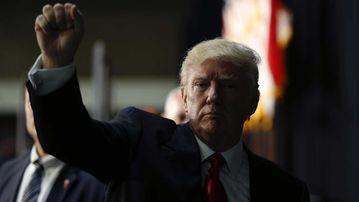 Donald Trump in Charlotte, North Carolina. (AP)
