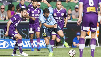 Sydney FC celebrate A-League Premiers' Plate in style against Perth
