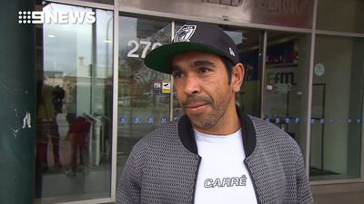 Adelaide star Eddie Betts fronts the media day after emergency appendix surgery