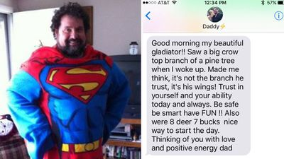 This 'superhero' dad helped his daughter through heartbreak