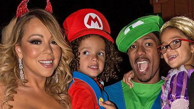Mariah Carey dresses as a sexy devil for Halloween party with ex Nick Cannon and Dem Babies