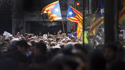 Angry protesters take to the streets of Barcelona over independence vote