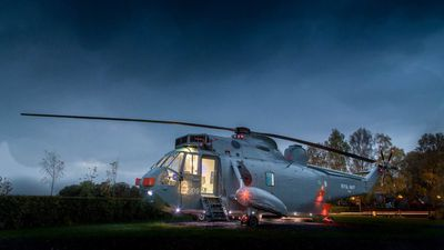 Royal Navy helicopter converted into glamping retreat